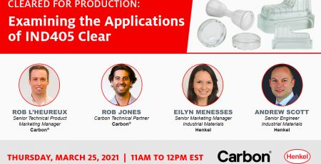 Carbon IND405 Clear Webinar Poster